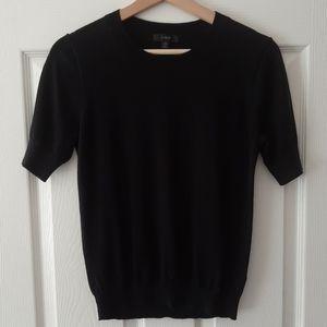 J Crew Black Silk Blend Crewneck Sweater Size XS